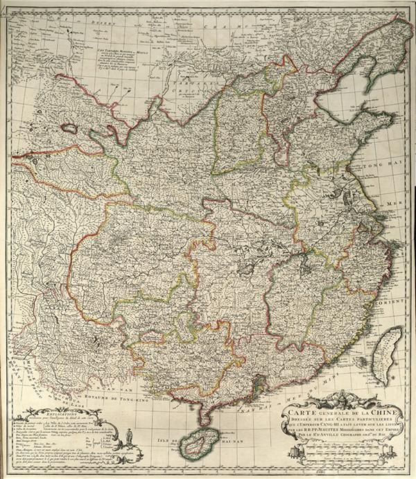 唐维尔是18世纪法国著名的地图学家和地理学家