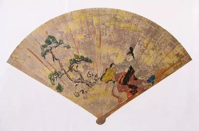 彩绘桧扇,日本平安时期后期,严岛神社藏