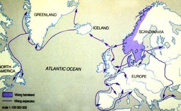 维京人活动的范围不仅限于冰岛和英国,还包括欧洲大陆,北美甚至伊斯兰图片