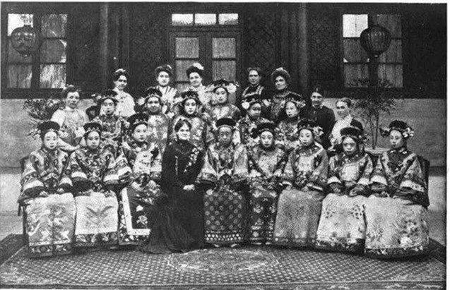 荣寿公主等与外国使节夫人