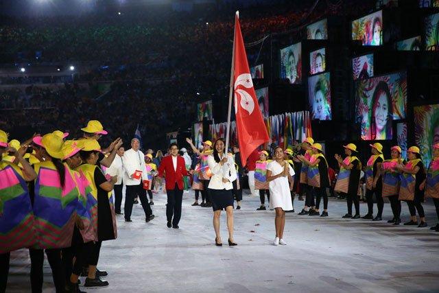 资料图:里约奥运开幕式上香港代表队入场