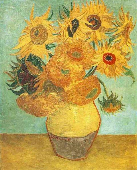 梵高的《花瓶里的十二朵向日葵》