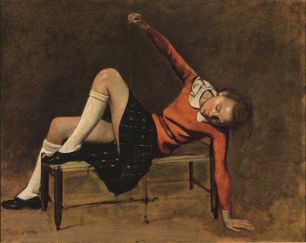 巴尔蒂斯画作被指有儿童色情,万人签名请愿将其撤下