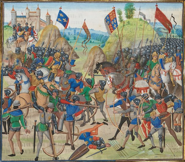 克雷西战役(Battle of Crécy 或Créssy),1346年8月26日