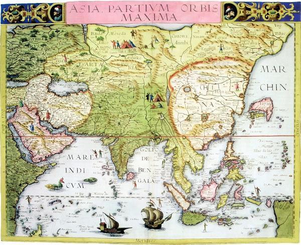 500年前欧洲人画的中国地图