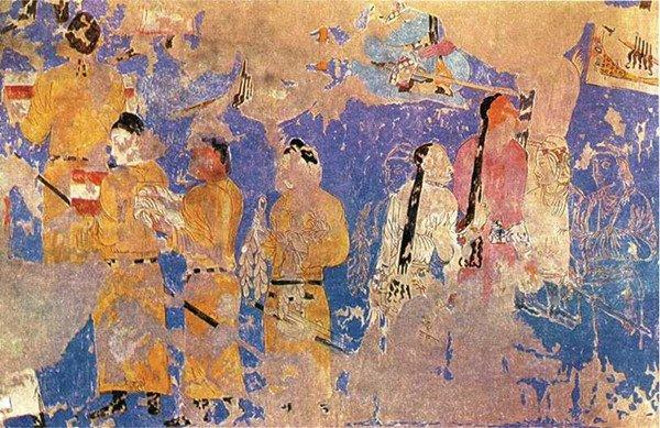 撒马尔干壁画上的唐朝使者