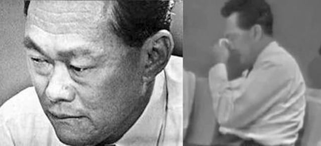 被撵出马来西亚联邦后,李光耀通过电视向国民发言,呼吁人民要保持镇定,但自己却无法控制情绪,流下泪水。