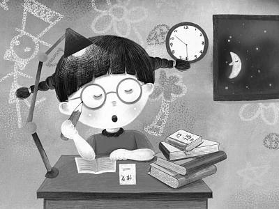 漫画:小学生为完成家庭作业挑灯夜战. 光明图片/视觉中国-德国为什