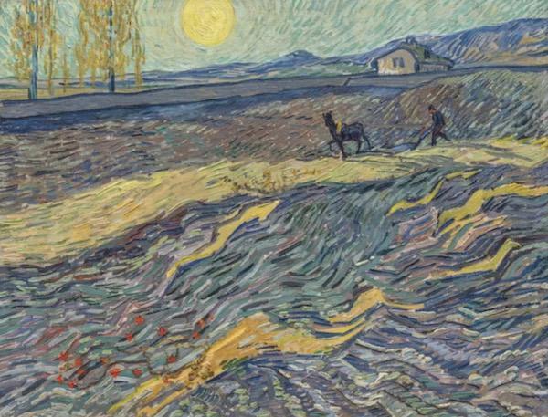 梵高《田野里犁地的农夫》8千多万美元成交,创个人第二高价