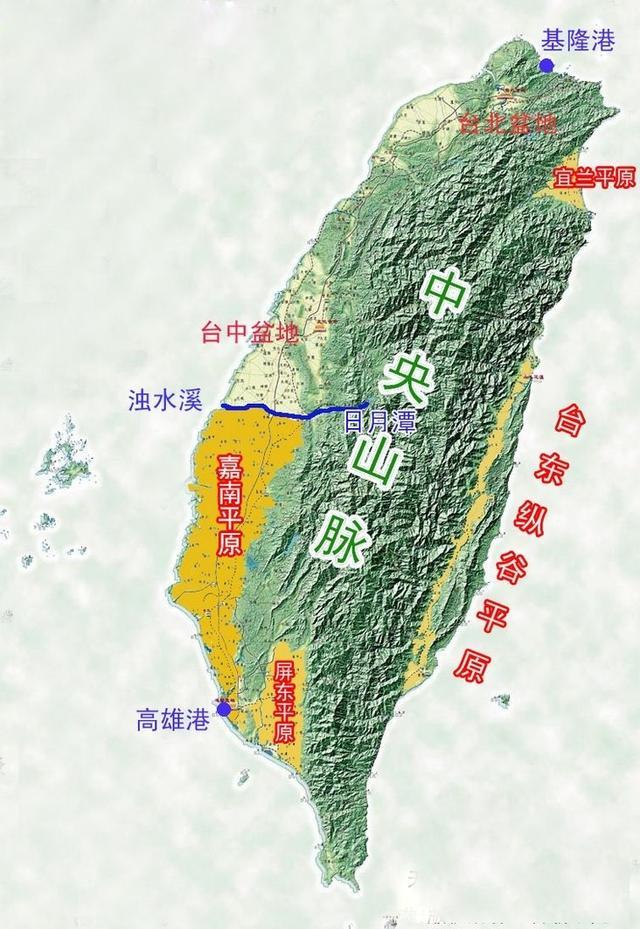 台湾地形图