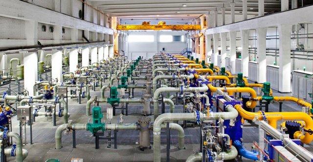 谷歌芬兰数据中心的冷却设备