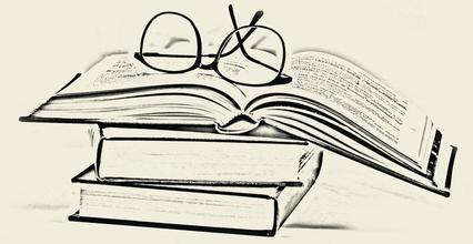 简笔画-淘旧书,能否重唤阅读之趣