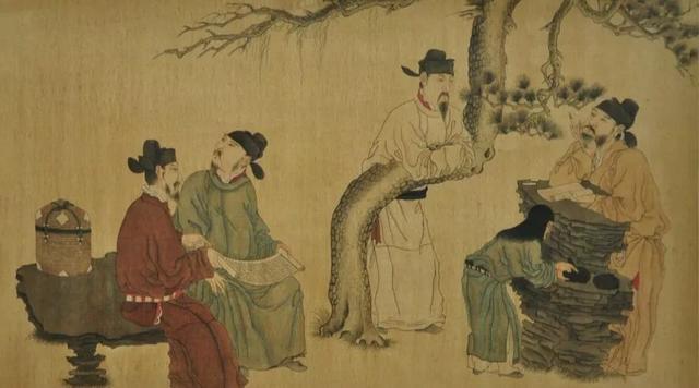 """从李煜的""""颤笔书法""""中悟出""""绘画界的后主""""周文矩"""