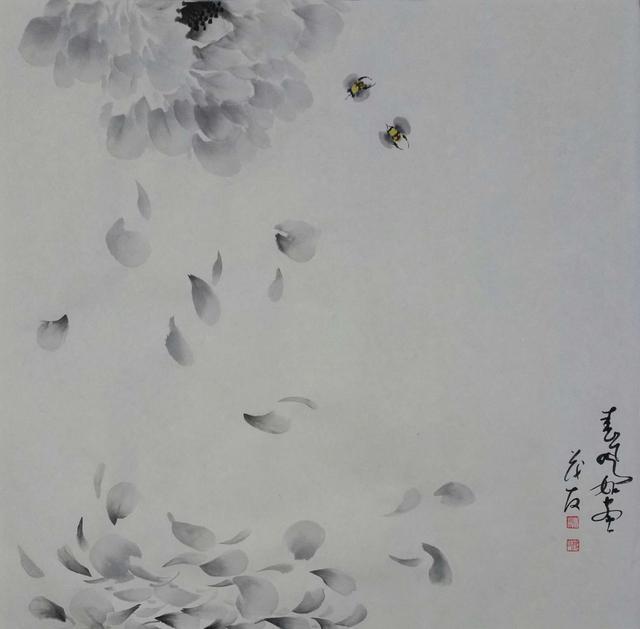 春之律动--蔡茂友情趣价值的现代v律动牡丹内衣秀水墨法国透明图片