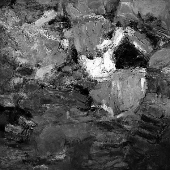 抽象派画家何坚宁:在单薄的艺术形式里聚集灵魂