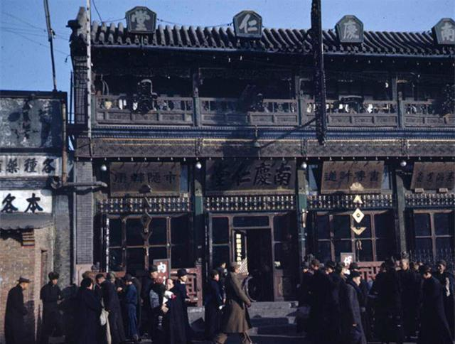 20世纪30、40年代,北京街头。摄影/Hedda Morrison