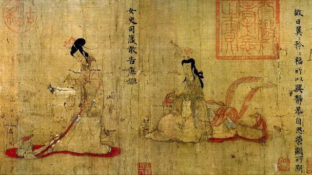 她为大英博物馆修复中国古画图片