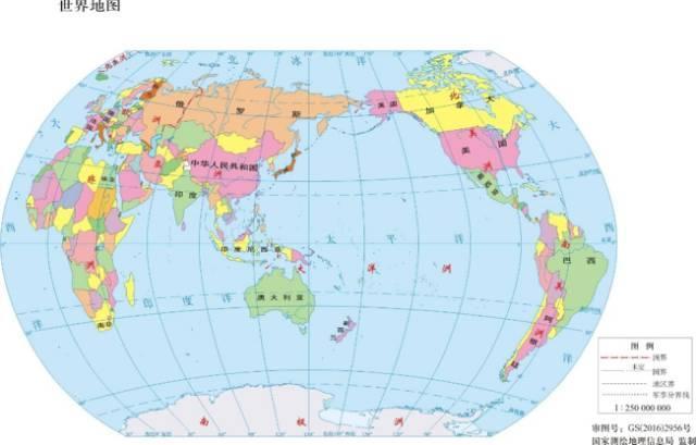 自上而下分别是美国,英国,中国的地图,每个国家都自然而然地将自己图片