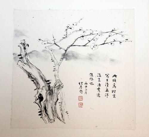 千年古树手绘速写