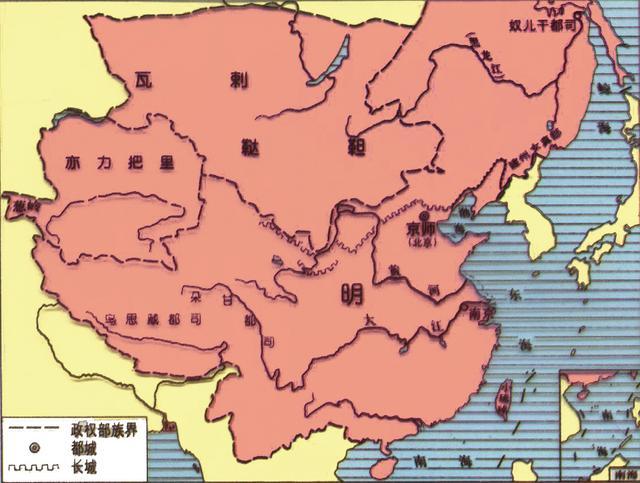 明朝疆域图.(图片