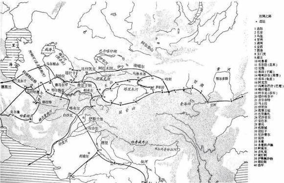 丝绸之路路线图