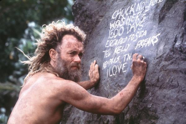 汤姆·汉克斯主演的电影《荒岛余生》剧照.