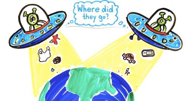 视频截图 如果有什么几乎是不会变的,那只有我们留下的塑胶垃圾了。不像木材和钢铁,它无法生物降解,各种细菌和消化酶拿它没办法。大量塑胶垃圾将顺着水道流入大海,逐渐沉积下来。亿万年后,或许会有来自其他星球的高等生物造访地球,那时它们将惊奇地发现塑料袋海岛、橡胶轮胎海湾等种种自然景观。另外,化学废料和核废料也同样长生不老,贻害万万年。 届时,外星人想必会好奇:人类究竟是种什么样的生物?在自身有限的生命进程中,竟然能制造出如此亿万年不变的垃圾,实在太变态了。所以,保护自然环境、爱护地球家园,从我做起、从此