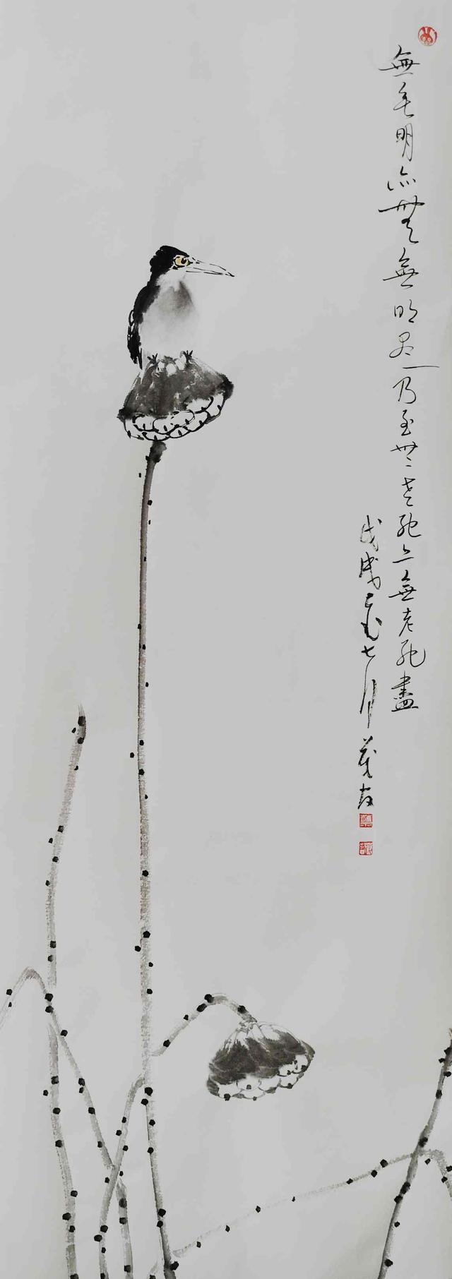 诗中见画-蔡茂友水墨荷花作品欣赏情趣内衣总裁文有图片