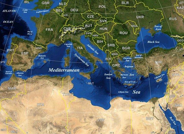 地中海与地中海世界图片