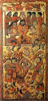 安伽墓石屏上的粟特音乐舞蹈和服饰