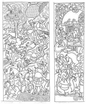 凉州萨保史君墓石椁上的粟特商队图