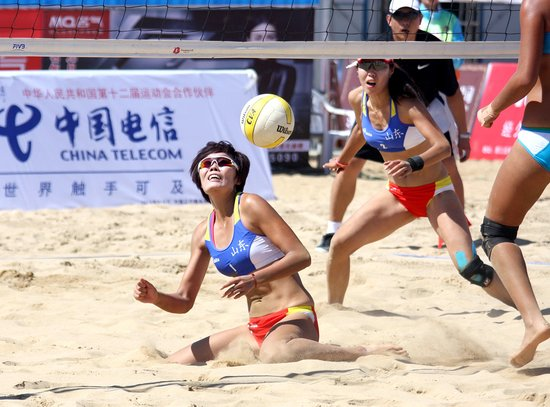 第十二届全运会沙滩排球比赛进入第三天 高清图片