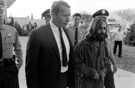 被拘捕的查尔斯·曼森,1969