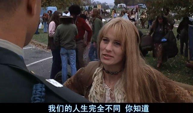 美国电影《阿甘正传》,阿甘的一生所爱珍妮是一名嬉皮