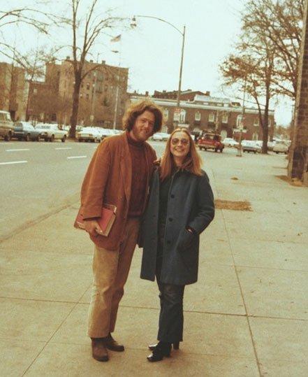 嬉皮时代的克林顿与希拉里