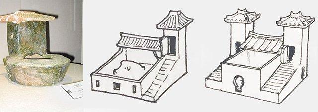 汉代厕所陶土模型