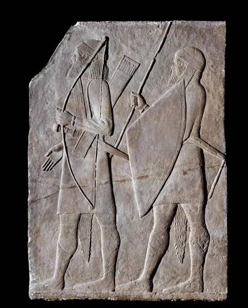 古代亚述武士浮雕