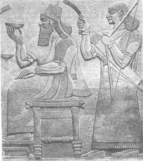 浅浮雕展示古代亚述人的狩猎、作战场景和服饰、家具、车轮等技术发明