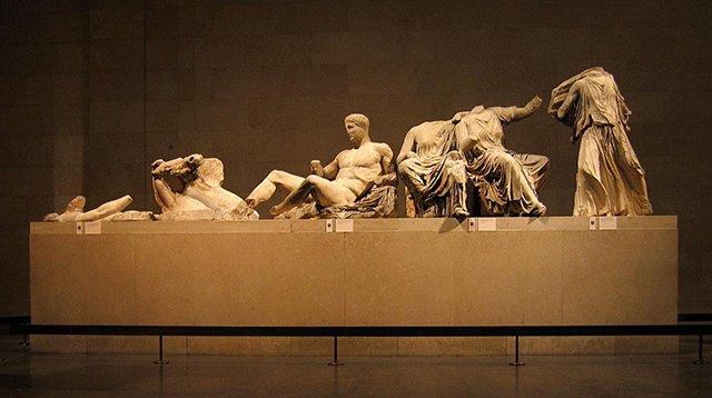 陈列在大英博物馆的雅典帕台农神庙雕塑
