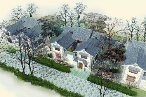 二层天井别墅设计图