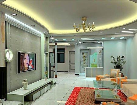 家居装修中,客厅吊顶不容忽视,因为吊顶占据整个客厅装修大部高清图片