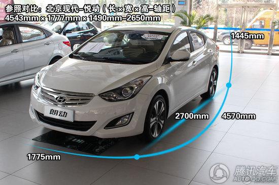 北京现代 朗动 1.8 DLX AT 重点图解