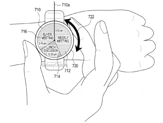 三星智能手表专利曝光 通过圆环进行界面操控