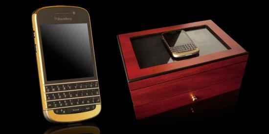 24k黄金限量版黑莓q10开卖 售价9580元