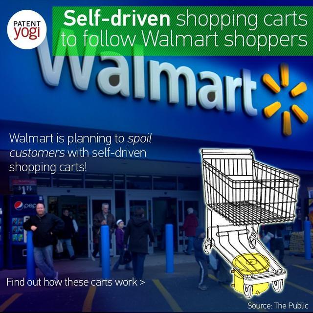 沃尔玛的购物车可以自动驾驶和自动跟随