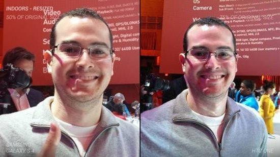 400万像素HTC One对比1300玩像素GALAXY S4