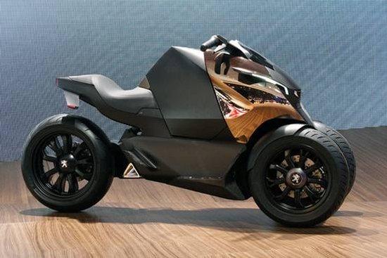 标志发布Onyx概念三轮摩托车