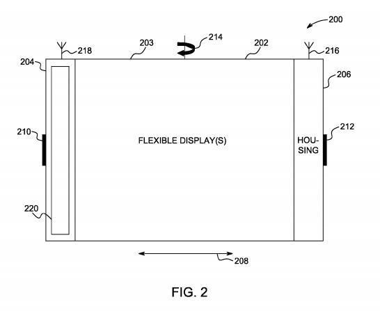 苹果注册柔性屏幕专利 可掰弯屏幕执行操作
