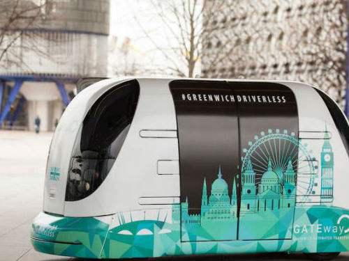 伦敦试行无人驾驶往返班车 时速16千米每小时