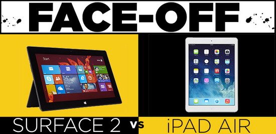 iPad air对比Surface 2:苹果完胜